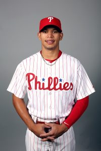 CLEARWATER, FL - FEBRUARY 26: Cesar Hernandez #16 of the Philadelphia Phillies poses during Photo Day on Friday, February 26, 2016 at Bright House Field in Clearwater, Florida. (Photo by Robbie Rogers/MLB Photos via Getty Images) *** Local Caption *** Cesar Hernandez