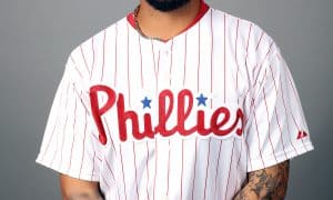 CLEARWATER, FL - FEBRUARY 26:  Freddy Galvis #13 of the Philadelphia Phillies poses during Photo Day on Friday, February 26, 2016 at Bright House Field in Clearwater, Florida.  (Photo by Robbie Rogers/MLB Photos via Getty Images) *** Local Caption *** Freddy Galvis
