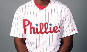CLEARWATER, FL - FEBRUARY 26:  Maikel Franco #7 of the Philadelphia Phillies poses during Photo Day on Friday, February 26, 2016 at Bright House Field in Clearwater, Florida.  (Photo by Robbie Rogers/MLB Photos via Getty Images) *** Local Caption *** Maikel Franco