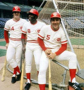 Pete Rose, Joe Morgan and Johnny Bench