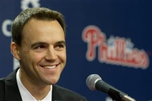 """23196320 Phillies GM Matt Klentak acknowledges his need to make """"significant  changes"""" this off-season."""