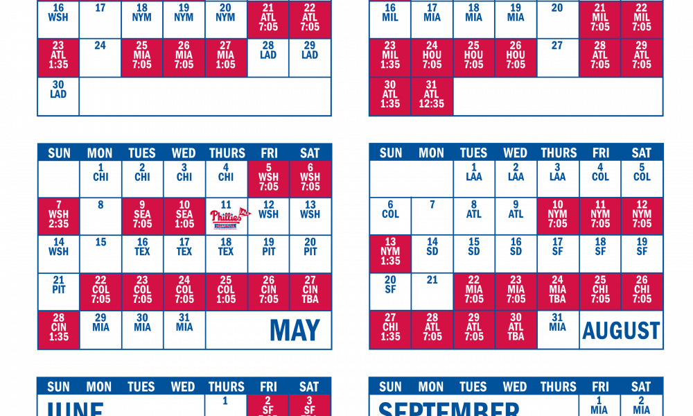 photograph about Phillies Schedule Printable identified as Phillies 2017 Timetable Unveiled Phillies Country