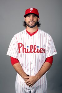 CLEARWATER, FL - FEBRUARY 26: Michael Mariot #31 of the Philadelphia Phillies poses during Photo Day on Friday, February 26, 2016 at Bright House Field in Clearwater, Florida. (Photo by Robbie Rogers/MLB Photos via Getty Images) *** Local Caption *** Michael Mariot