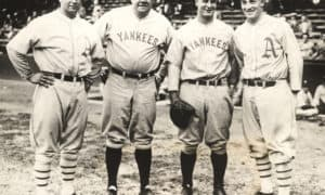 Jimmie Foxx, Babe Ruth, Lou Gehrig, Al Simmons