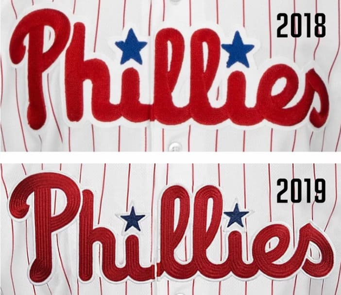 896aa4b24 The Phillies have made subtle uniform tweaks ahead of the 2019 ...