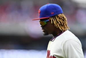 542d41e28 Odubel Herrera has been placed on administrative leave. (Photo by Kyle  Ross/Icon Sportswire). Philadelphia Phillies ...