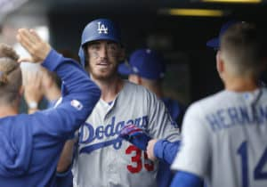 f570af94 Cody Bellinger homered twice as the visiting Dodgers roasted the Phillies  on Monday night at Citizens Bank Park. (Russell Lansford/Icon Sportswire)