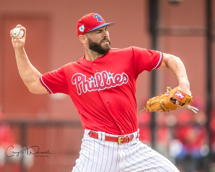Jake Arrieta Philadelphia Phillies Spring Training Baseball Player Jersey